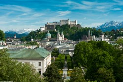 The Salzburg Fortress.