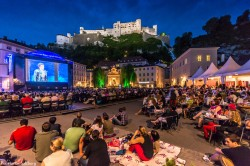 The festival in Salzburg attracts a big audience each year.