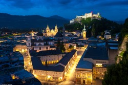 Picture from Salzburg at night