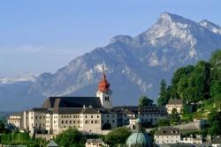 Salzburg panorama view Nonnberg